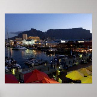 Barcos no porto, África do Sul Poster