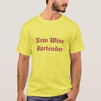 Barman novo do vinho t-shirt