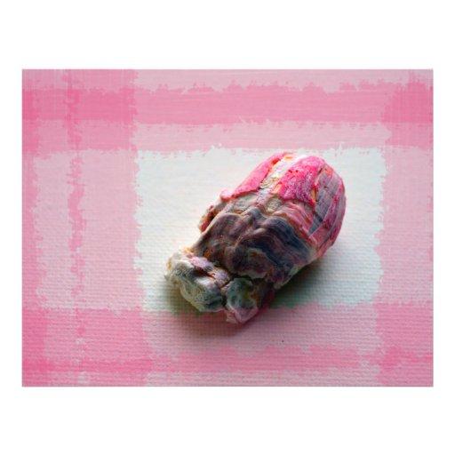barnacle na imagem da praia do escudo do rosa das modelo de panfleto