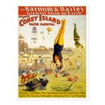 Barnum & carnaval da água de Bailey Coney Island Cartão Postal