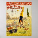 Barnum & carnaval da água de Bailey Coney Island Posteres