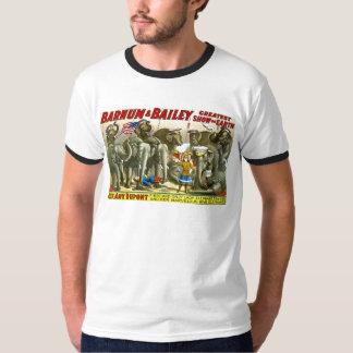Barnum & propaganda do poster dos elefantes de camiseta