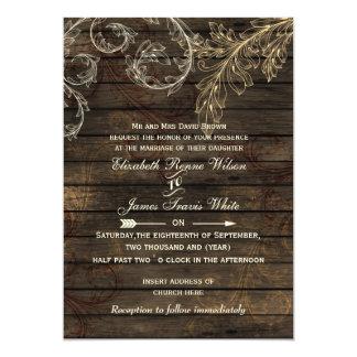 Barnwood rústico, convites de casamento do