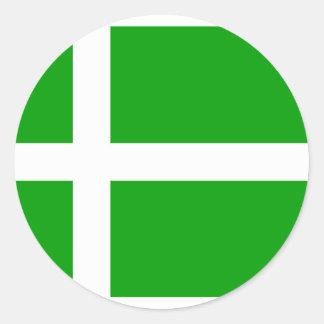 Barra, bandeira de Reino Unido Adesivo Redondo