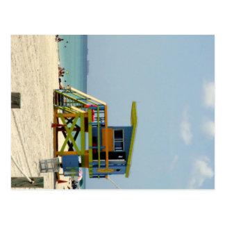 Barraca do Lifeguard de Miami Beach Cartão Postal