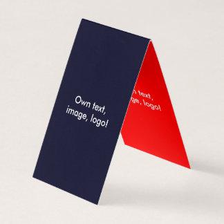 Barraca dobrada cartão de visita V azul escuro -