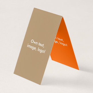 Barraca dobrada cartão de visita V Ouro-Alaranjado