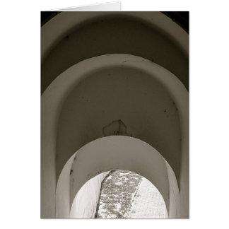 Barrancas arqueia o interior cartao