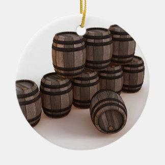 barrel-37304 ornamento de cerâmica redondo