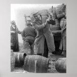 Barris de destruição de Cerveja, 1924 Impressão