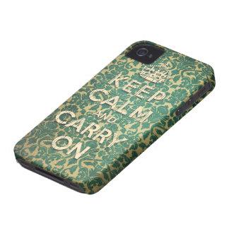 barroco mantenha a calma e continue capa para iPhone