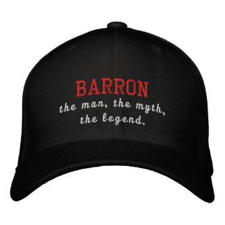 Barron o homem, o mito, a legenda boné bordado