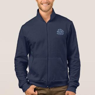 Basculador azul do fecho de correr de homens de jaqueta