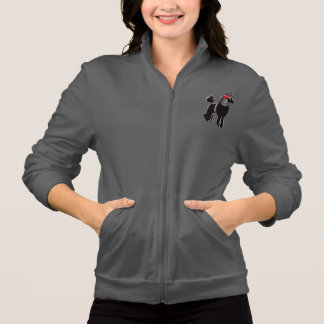 Basculador do fecho de correr do velo das mulheres jaqueta