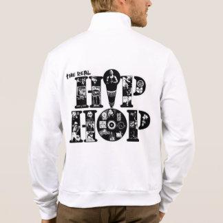 basculador do fecho de correr do velo de hiphop jaqueta
