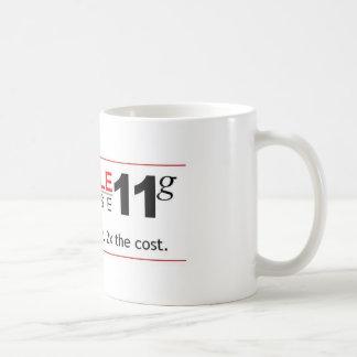 Base de dados 11g do obstáculo caneca de café