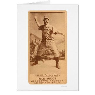 Basebol 1887 do guindaste da bala de canhão cartão