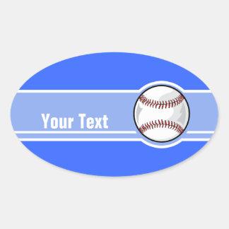 Basebol; Azul Adesivos Em Formato Oval