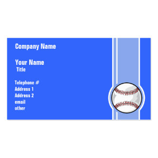 Basebol Azul Modelos Cartoes De Visita