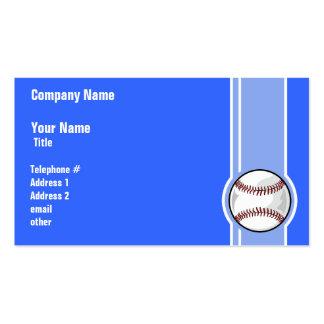 Basebol; Azul Modelos Cartoes De Visita
