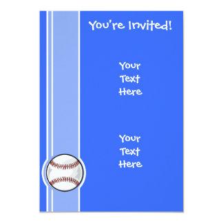 Basebol; Azul Convites