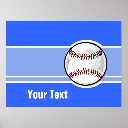 Basebol; Azul Pôsteres