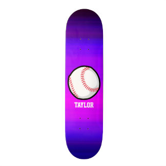 Basebol, azul violeta do softball e magenta shape de skate 20cm