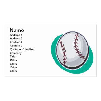 Basebol Modelo De Cartões De Visita