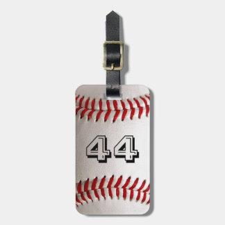Basebol com número customizável tag de mala