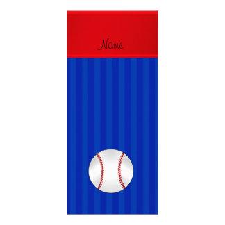 Basebol conhecido personalizado das listras azuis modelo de panfleto informativo
