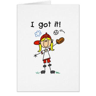 Basebol das meninas eu obtive-o cartão comemorativo