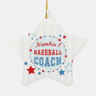 Basebol das Todo-Estrelas do treinador dos Ornamento De Cerâmica
