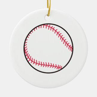 Basebol do Applique Ornamento De Cerâmica Redondo