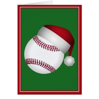Basebol do Natal Cartão Comemorativo