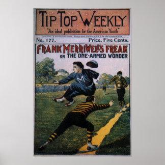 Basebol do vintage, cobrir de revista semanal poster