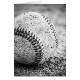 Basebol em preto e branco cartão comemorativo