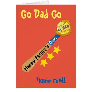 Basebol feliz do dia dos pais cartão comemorativo