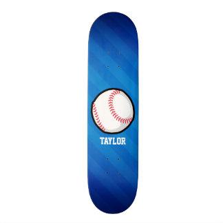 Basebol; Listras de azuis marinhos Shape De Skate 19,7cm