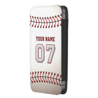 Basebol número 7 com nome personalizado bolsinha de celular