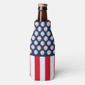 Basebol & refrigerador da garrafa da bandeira