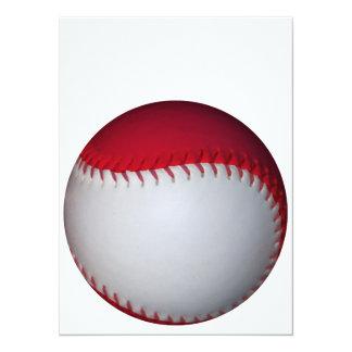 Basebol/softball brancos e vermelhos convite 13.97 x 19.05cm