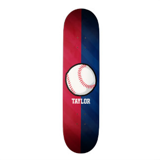 Basebol; Vermelho, branco, e azul Shape De Skate 20,6cm