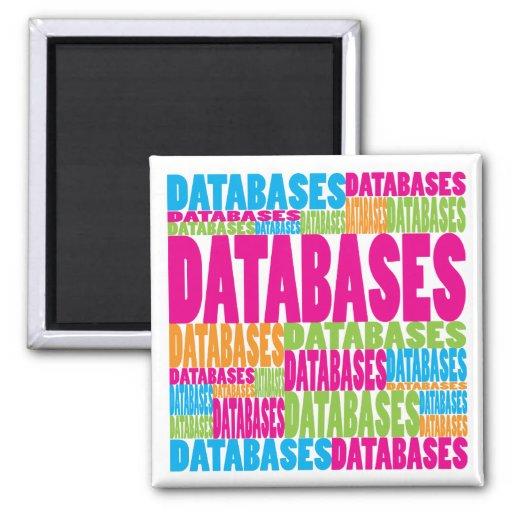 Bases de dados coloridas imã