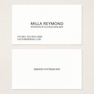 básico branco profissional elegante cartão de visitas