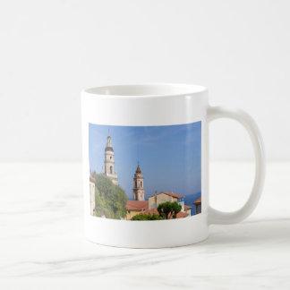 Basílica em Menton em France Caneca De Café