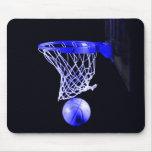 Basquetebol azul mouse pads