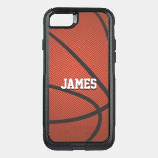 Basquetebol conhecido personalizado capa iPhone 7 commuter OtterBox