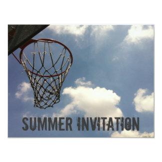 Basquetebol do verão convite 10.79 x 13.97cm