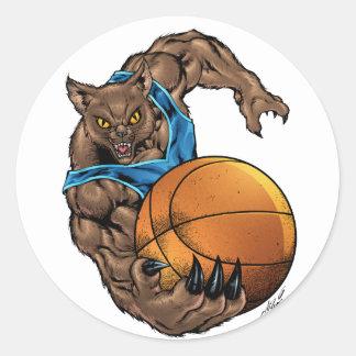 Basquetebol dos linces dos Wildcats, azul, listra Adesivo
