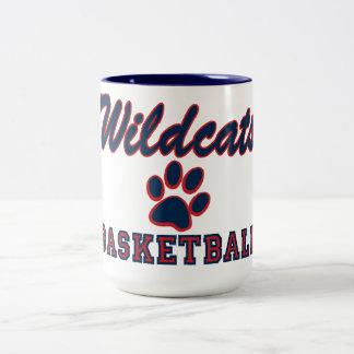 Basquetebol dos Wildcats Caneca De Café Em Dois Tons
